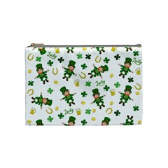 St Patricks Day Pattern Cosmetic Bag (medium)