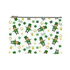 St Patricks Day Pattern Cosmetic Bag (large)