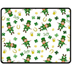 St Patricks Day Pattern Fleece Blanket (medium)