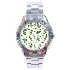 St Patricks Day Pattern Stainless Steel Analogue Watch