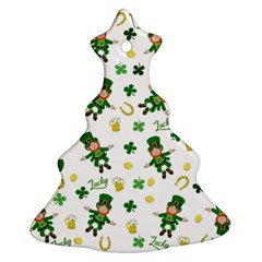 St Patricks Day Pattern Ornament (christmas Tree)
