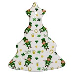 St Patricks day pattern Christmas Tree Ornament (Two Sides) Front
