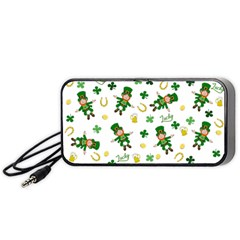 St Patricks Day Pattern Portable Speaker