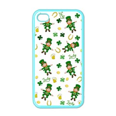 St Patricks Day Pattern Apple Iphone 4 Case (color)