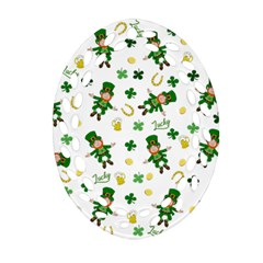 St Patricks Day Pattern Ornament (oval Filigree)