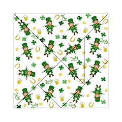 St Patricks Day Pattern Acrylic Tangram Puzzle (6  X 6 )