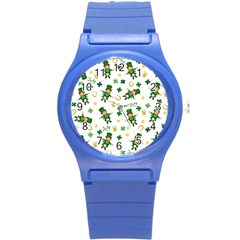 St Patricks Day Pattern Round Plastic Sport Watch (s)
