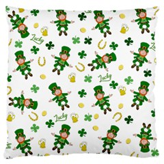 St Patricks Day Pattern Large Cushion Case (one Side)