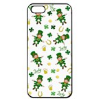 St Patricks day pattern Apple iPhone 5 Seamless Case (Black) Front