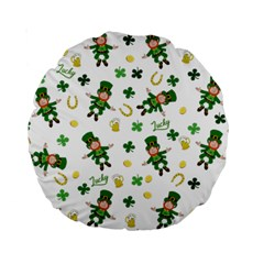 St Patricks Day Pattern Standard 15  Premium Round Cushions
