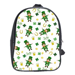 St Patricks Day Pattern School Bag (xl)