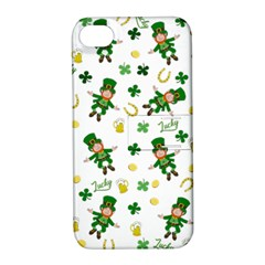St Patricks Day Pattern Apple Iphone 4/4s Hardshell Case With Stand
