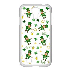 St Patricks Day Pattern Samsung Galaxy S4 I9500/ I9505 Case (white)