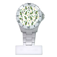 St Patricks Day Pattern Plastic Nurses Watch