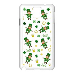 St Patricks Day Pattern Samsung Galaxy Note 3 N9005 Case (white)