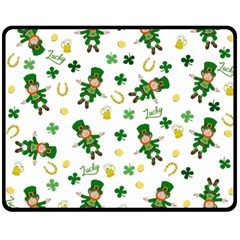 St Patricks Day Pattern Double Sided Fleece Blanket (medium)