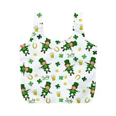 St Patricks Day Pattern Full Print Recycle Bags (m)