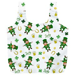 St Patricks Day Pattern Full Print Recycle Bags (l)
