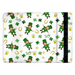 St Patricks Day Pattern Samsung Galaxy Tab Pro 12 2  Flip Case