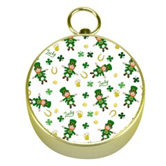 St Patricks Day Pattern Gold Compasses