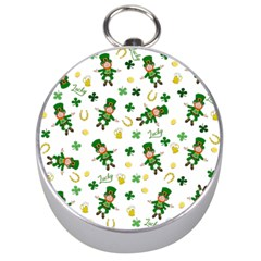 St Patricks Day Pattern Silver Compasses