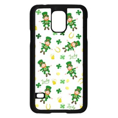 St Patricks Day Pattern Samsung Galaxy S5 Case (black)