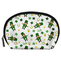 St Patricks Day Pattern Accessory Pouches (large)