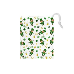 St Patricks Day Pattern Drawstring Pouches (small)