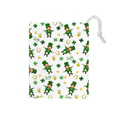 St Patricks Day Pattern Drawstring Pouches (medium)