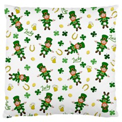 St Patricks Day Pattern Large Flano Cushion Case (two Sides)