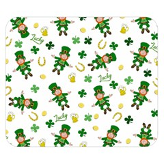 St Patricks Day Pattern Double Sided Flano Blanket (small)