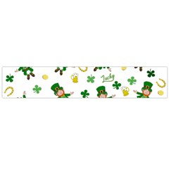 St Patricks Day Pattern Large Flano Scarf