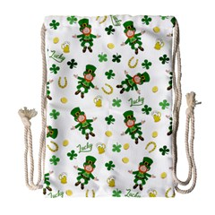 St Patricks Day Pattern Drawstring Bag (large)