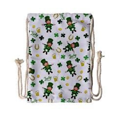 St Patricks Day Pattern Drawstring Bag (small)