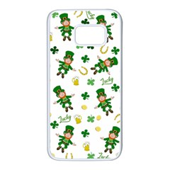 St Patricks Day Pattern Samsung Galaxy S7 White Seamless Case