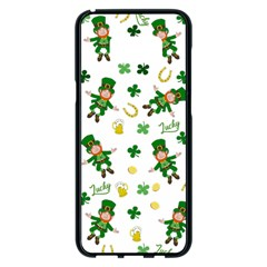 St Patricks Day Pattern Samsung Galaxy S8 Plus Black Seamless Case