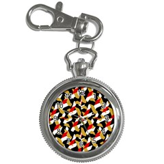 Colorful Abstract Pattern Key Chain Watches