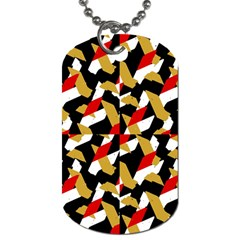 Colorful Abstract Pattern Dog Tag (one Side)