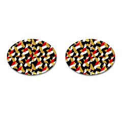 Colorful Abstract Pattern Cufflinks (oval)