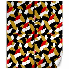 Colorful Abstract Pattern Canvas 8  X 10