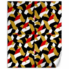Colorful Abstract Pattern Canvas 11  X 14