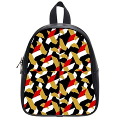 Colorful Abstract Pattern School Bag (small)