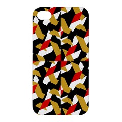 Colorful Abstract Pattern Apple Iphone 4/4s Premium Hardshell Case