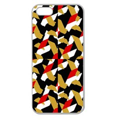 Colorful Abstract Pattern Apple Seamless Iphone 5 Case (clear)