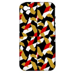 Colorful Abstract Pattern Apple Iphone 4/4s Hardshell Case (pc+silicone)