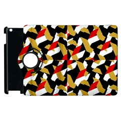 Colorful Abstract Pattern Apple Ipad 2 Flip 360 Case