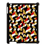 Colorful Abstract Pattern Apple iPad 3/4 Case (Black) Front