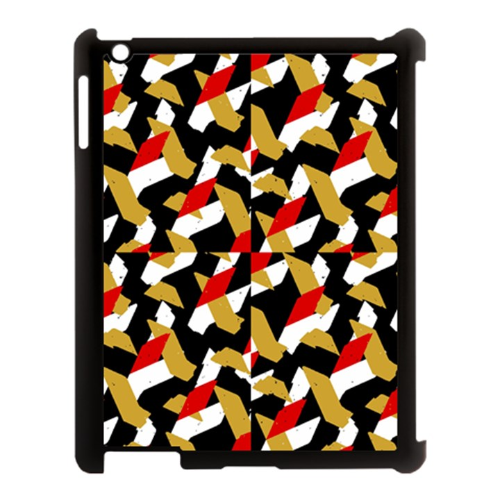 Colorful Abstract Pattern Apple iPad 3/4 Case (Black)