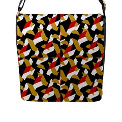 Colorful Abstract Pattern Flap Messenger Bag (l)
