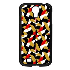 Colorful Abstract Pattern Samsung Galaxy S4 I9500/ I9505 Case (black)